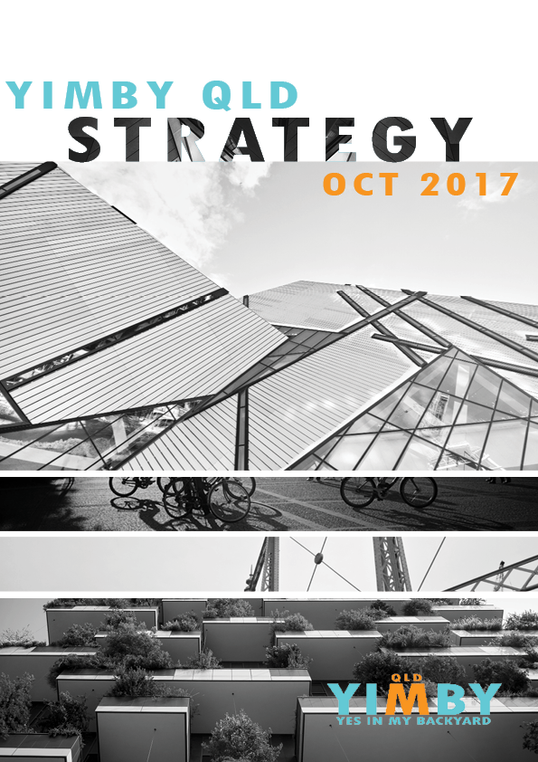 Cover of YIMBY Qld Strategy Document for Oct 2017